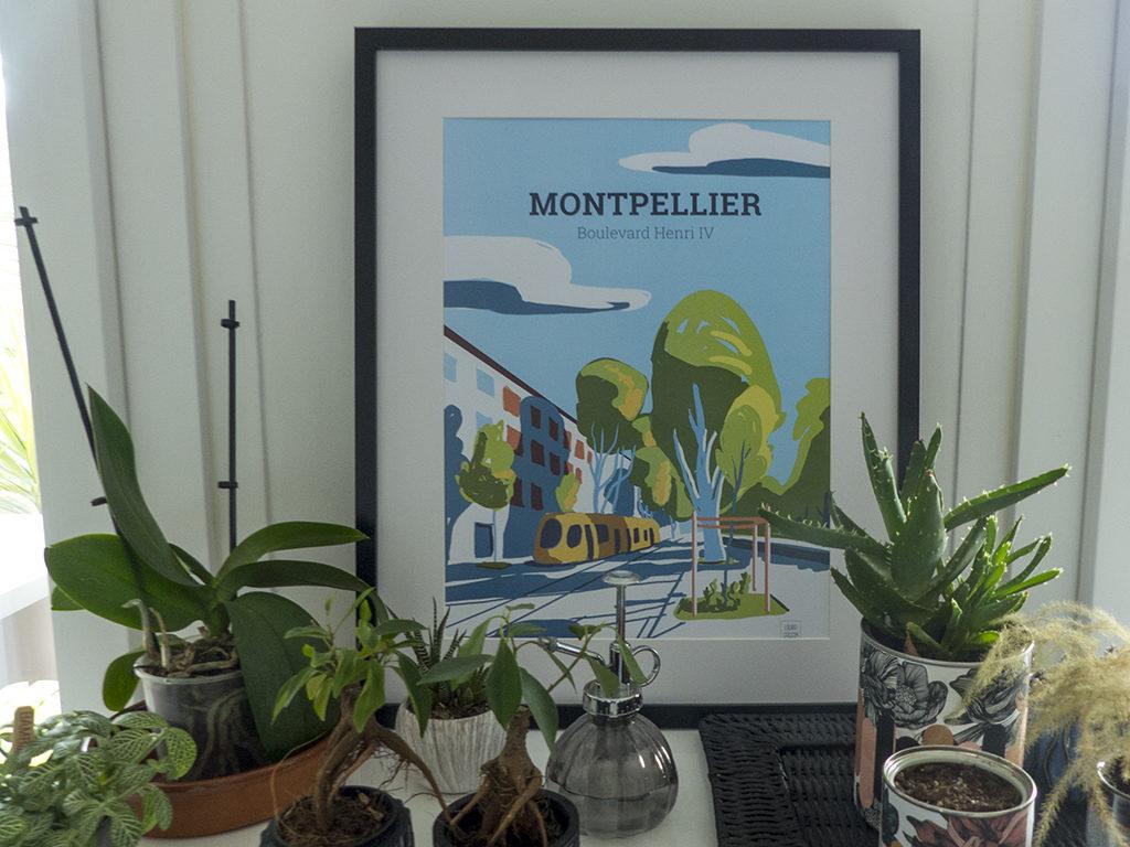 Illustration de Montpellier par Laura Gassin