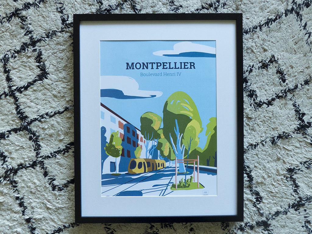 Les illustrations de Montpellier par Laura Gassin