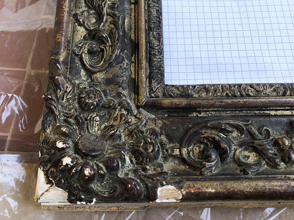 Zoom sur Le miroir avant rénovation