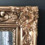Zoom Miroir doré au mercure