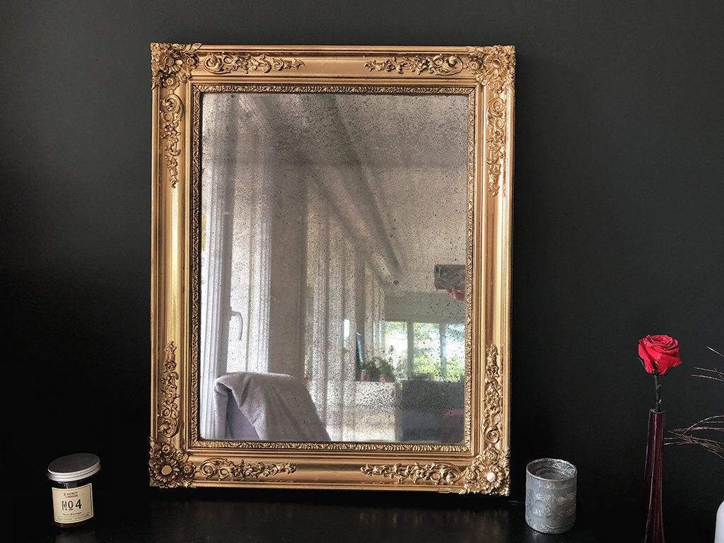 Miroir doré au mercure