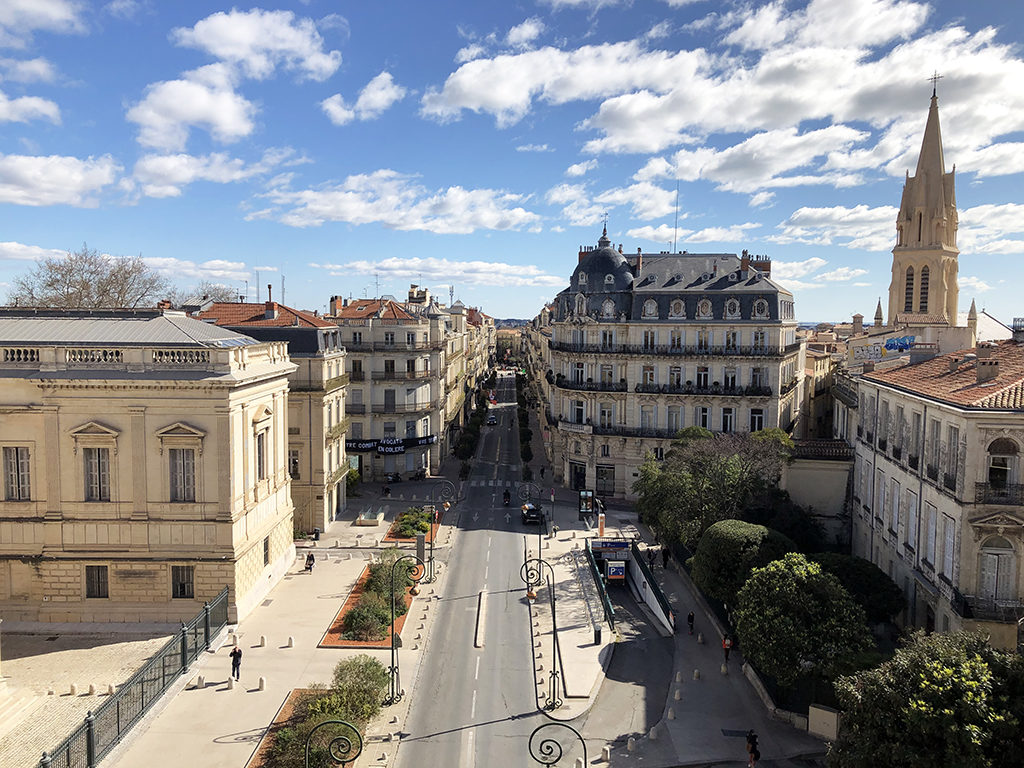 Montpellier vue d'en haut