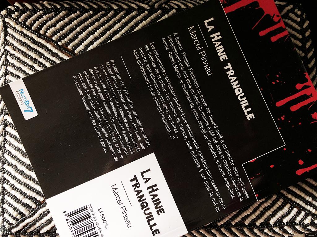 La Haine tranquille aux éditions nombre7 livre roman policier